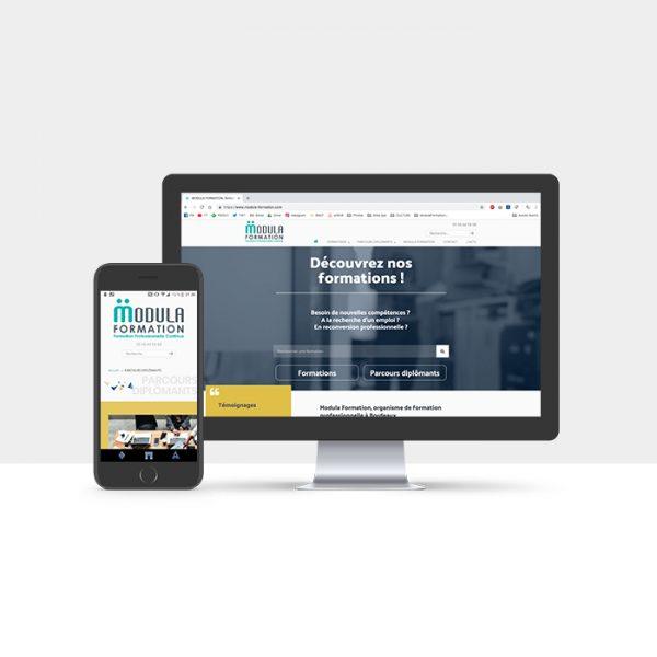 Site Internet Vitrine de Modula Formation par Nasiop